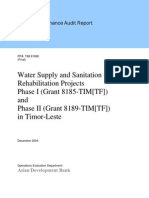 Evaluation of Timor-Leste Water Supply and Sanitation Rehabilitation Projects Phase I and II (Grants 8185 & 8189-TIM[TF])