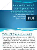 Balanced Scorecard Development and Implementation in IOE Compared With IIT