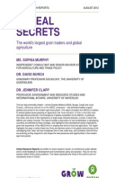 Cereal Secrets: The world's largest grain traders and global agriculture