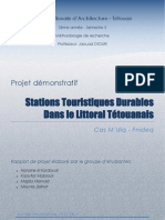 Projet_Stations Touristiques alternatives Littoral Tétouan