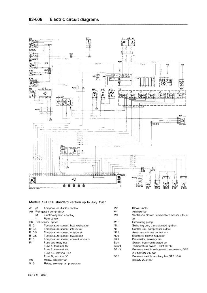 electric circuit diagrams 83 606 w124 rh scribd com