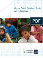 Sindh Devolved Social Services Programs in Pakistan