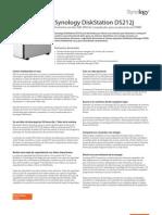 Synology DS212j Data Sheet Esn