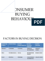 Consumer Buying Behaviour