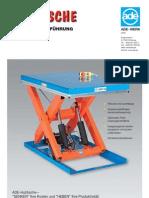 ADE Product+Catalogue Handling Scissor+Lift+ +German