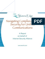 2009 06 05 Waters Edge Navigating Compliance and Security for Unified Communications Presentation