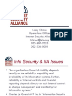 2004 01 07 Larry Clinton Risk Management and Insurance Presentation for the Institute of Internal of Auditors IIA
