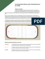 Exigences de protection Niveau 2 pour l'entraînement sur courte piste (FEC 0,30 à <0,60)