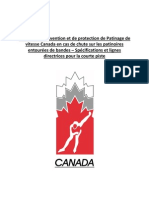 Mesures de prévention et de protection en cas de chute sur les patinoires entourées de bandes – Spécifications et lignes directrices pour la courte piste