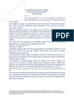 Tax Relief Allowances in Nigeria
