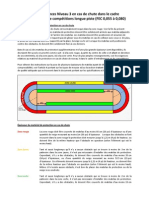 Exigences Niveau 3 en cas de chute dans le cadre d'entraînement et de compétitions longue piste (FEC 0,055 à 0,080)