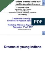 2012 07 04 Dbphatak Valedictory Address RM Workshop Participants