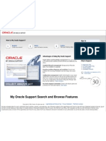 My Oracle Support Search and Browse Features6