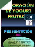 Elaboracion e Yogur Frutado