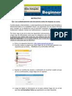 Instructivo Ficha de Matrícula Inglés Beginner