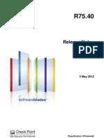 CP R75.40 ReleaseNotes