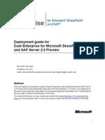 Deployment Guide for Duet Enterprise 2.0 Preview