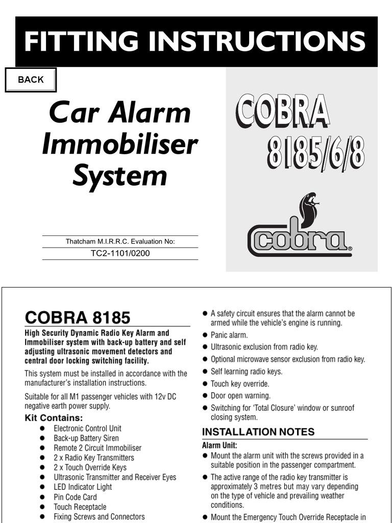 [WRG-2077] Cobra Alarm Wiring Diagram