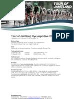 Inbjudan Tour of Jamtland Cyclosportive 2012