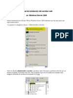 Instalación de servidor web --Windows Server 2008--