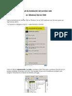 Instalación de servidor web --Windows Server 2008--