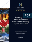 A Canadian Post-Mercantilist Trade and Productivity Agenda