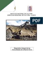 Diagnóstico Nacion Qero Cusco Peru 2005