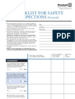 Checklist Safety Inspections