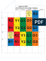 2009 Refuse Recycling Calendar Revised
