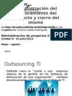 Administración del Procuramiento del proyecto y cierre del