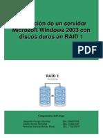 Configuracion RAID