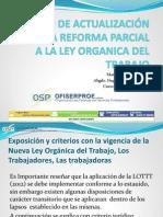 Curso LOTTT 2012 Ley Organica de Trabajadores y Trabajadoras