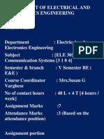 Ec Course Plan