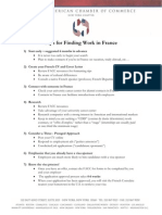 Tips on French Job Search