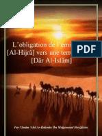 L'obligation de l'émigration [Al-Hijrâ] vers une terre d'Islam [Dâr Al-Islâm]