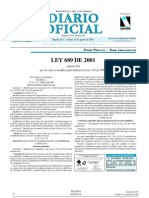 Ley 689 de 2001