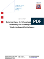Beruecksichtigung der Naturschutzbelange bei der Planung und Genehmigung von Windkraftanlagen in Hessen