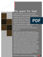 The Quest for God and Infinity