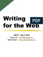 UNITY Web Writing