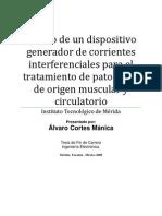 Diseño de un electroestimulador de corrientes interferenciales para el tratamiento de patologías de origen muscular y circulatorio. PDF