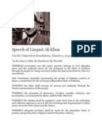 Speech of Liaquat Ali Khan on the Objectives Resolution March 9 1949