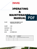 Operating and maintenance manual - Sewage Treatment plant