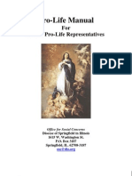 Pro Life Manual for Parish Pro Life Reps (Prolife Propaganda/Tactics)