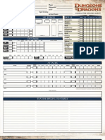 Fourth Edition Character Sheets