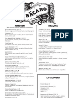 Bacaro's Farm Fresh Menu
