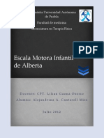 Escala Motora de Alberta