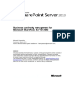 Microsoft SharePoint 2010 Service Continuity
