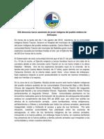 Comunicado muerte de Carlos Ma Domicó