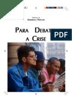 Cartilha Para Debater a Crise