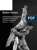 24 Preludes by Chopin a Suite of Dances the Four Seasons Ballet Notes